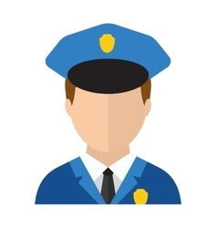 Police man officer avatar in suit and cap vector image