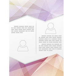 Print booklet with crystal structure border vector
