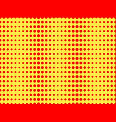 Red dots on a yellow background pop art pattern vector