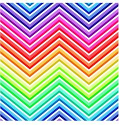 Seamless rainbow chevron pattern vector