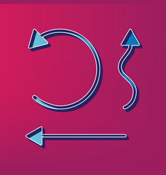 simple set to interface arrows blue 3d vector image
