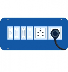 switches and plug vector image