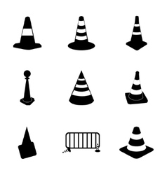 Traffic cone icons set vector