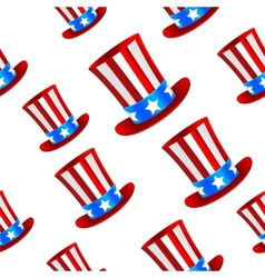 Uncle Sam hat background vector image vector image