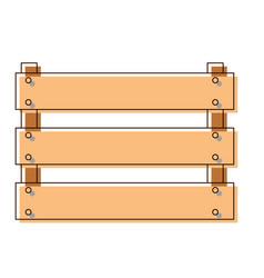 wooden basket flat in watercolor silhouette vector image vector image