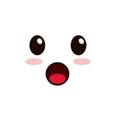 kawaii facial expression icon vector image