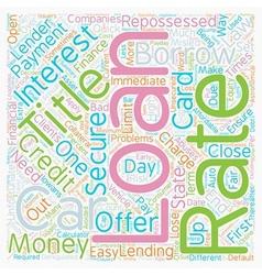 Car title loan text background wordcloud concept vector