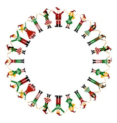 Merry xmas happy circelebration vector