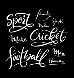 Football sport hand written typography vector