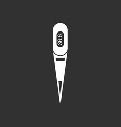 White icon on black background electronic vector