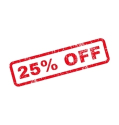 25 Percent Off Text Rubber Stamp vector image