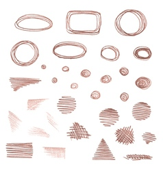 Set of various pencil strokes isolated on white vector