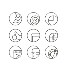 Different web browser icons set vector image