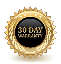 Thirty day warranty vector