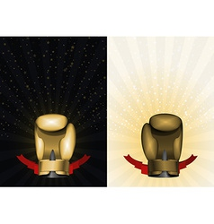 Boxing gloves set template for championship awards vector