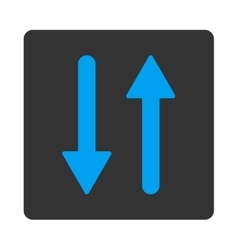 Arrows exchange vertical flat blue and gray colors vector