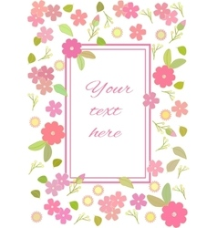isolated card vector image