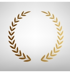 Laurel wreath sign vector