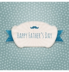 Fathers day paper blue and white holiday label vector