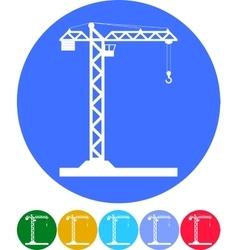 Building tower crane icon - vector