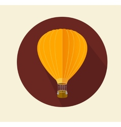 Air ballon icon flat vector