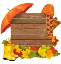 Autumn Board vector image
