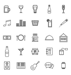 Bar line icons on white background vector