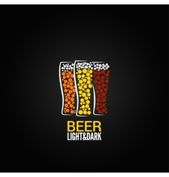 Beer glass label design background vector