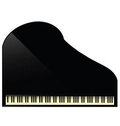 Black grand piano vector