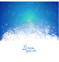 blue sky background over snowflakes cloud vector image