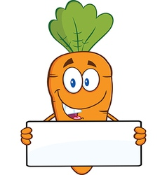 Cartoon carrot vector image vector image