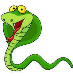Cute cobra cartoon vector