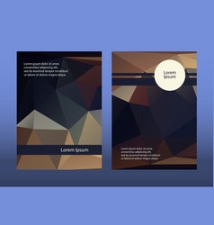 Dark brochure leaflets low vector