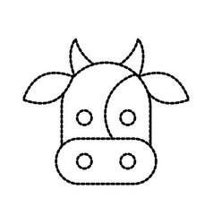 farm cow animal mammal domestic vector image