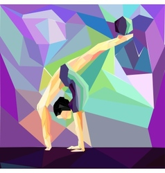girl gymnast does exercises with the ball vector image