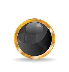 Golden luxury ball vector