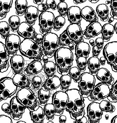 hand drawn skull seamless background vector image vector image