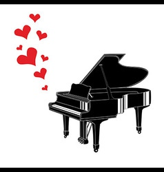 Heart love music piano playing a song vector