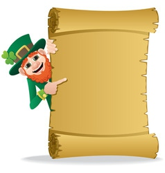 leprechaun scroll vector image vector image