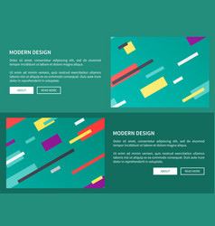 modern design web pages on vector image vector image