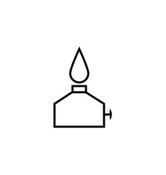 Oil burner simple icon vector