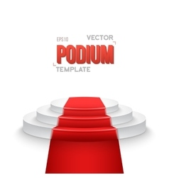Photorealistic Winner Podium Stage with Stage vector image vector image