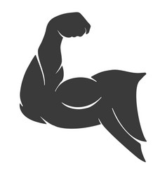 Power muscle arm icon vector