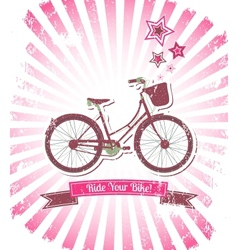 Ride your bike banner vector