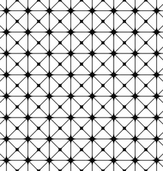 Seamless black and white grid pattern vector