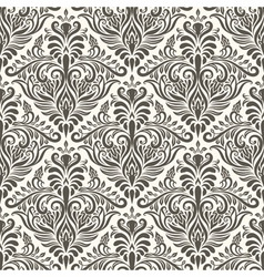 seamless filigree vintage pattern vector image
