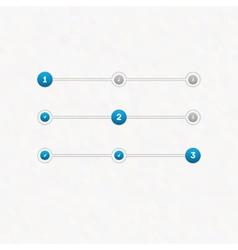 Set of step progress bar vector