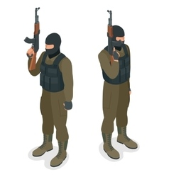 Spec ops police officers swat in black uniform vector