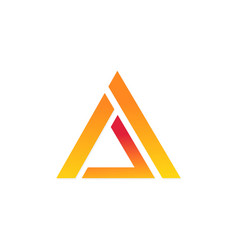 triangle shape business logo vector image vector image