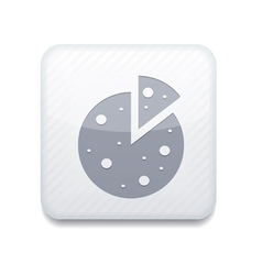white pizza icon Eps10 Easy to edit vector image vector image
